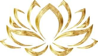 Golden Lotus Flower Clipart Goldenized Lotus Flower