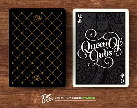 types of card decks the type deck typography cards t shirts on behance