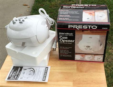 presto under cabinet electric can opener new presto hide n sleek can opener 05650 appliances in