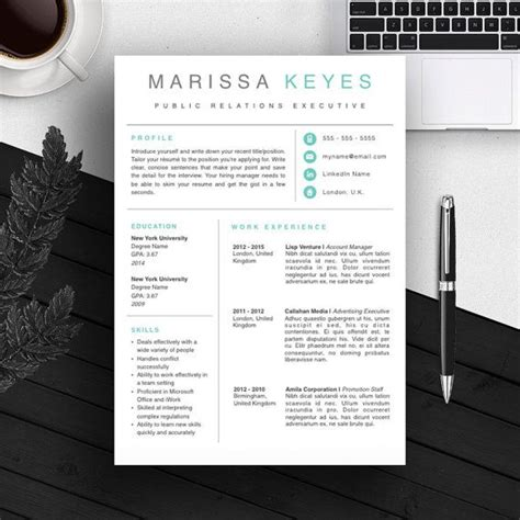 30 best resume templates images on design