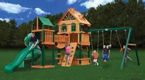 gorilla playsets woodbridge wooden swing set backyard toy company