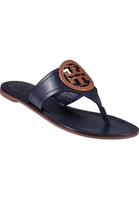 navy sandals 1 burch louisa sandal navy leather in blue lyst