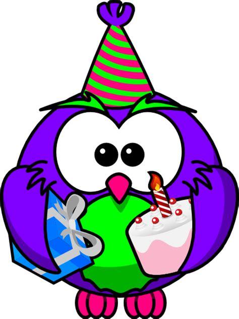 birthday clipart birthday owl clip at clker vector clip