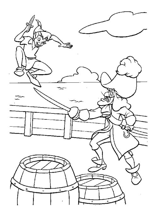 Peterpan Coloring Pages Coloringpages1001 Com Pan Coloring Page