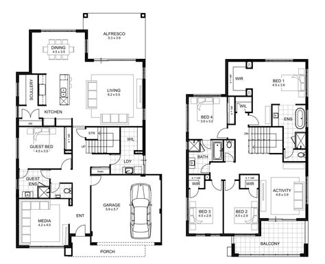 House Designs And Floor Plans 5 Bedrooms by 5 Bedroom House Designs Perth Double Storey Apg Homes