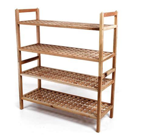 Wooden Shoe Shelf by 2 Tier Walnut Wooden Shoe Rack Storage Shoes Stackable