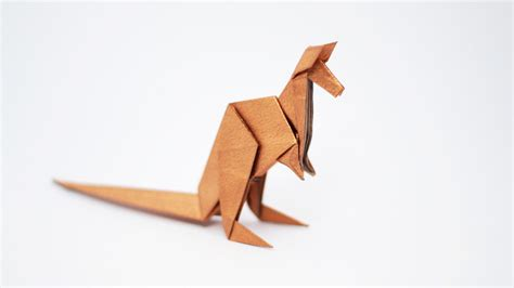Origami Kangaroo Easy - how to make an origami kangaroo designed by jo nakashima