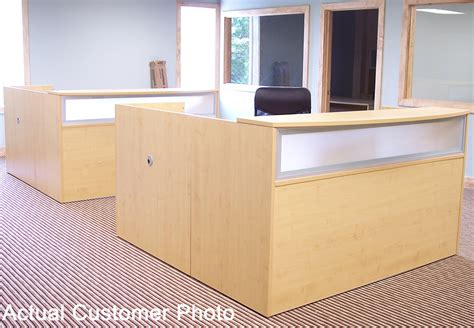 maple reception desk for 1299 in stock free shipping