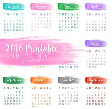 make free year calendar 16 free printable calendars for 2016 organize and