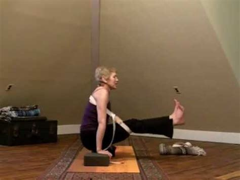 boat pose with block suspended boat pose using a yoga strap youtube