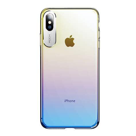 rock gradient color pc protective case  iphone xr blue