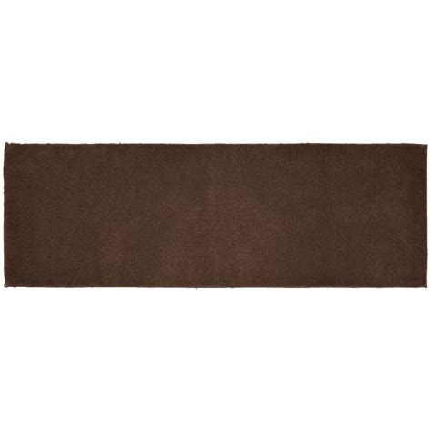 Garland Rug Queen Cotton Chocolate Brown 22 In X 60 In Chocolate Brown Bathroom Rugs