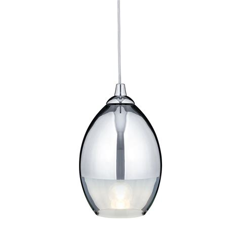 searchlight 9681cc coolie chrome glass ceiling pendant