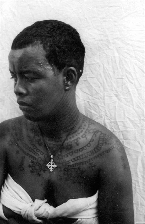 ethiopian tribal tattoos africa with henna pattern on neck