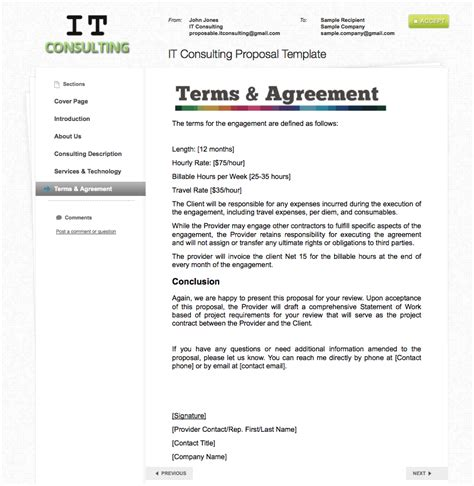 terms and conditions of quotations template proposable templates the proposable