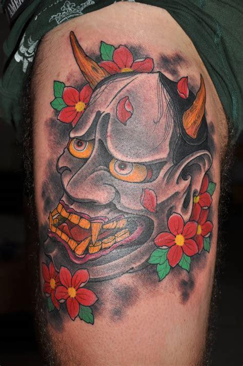 hannya mask knee tattoo 35 latest hannya leg tattoos
