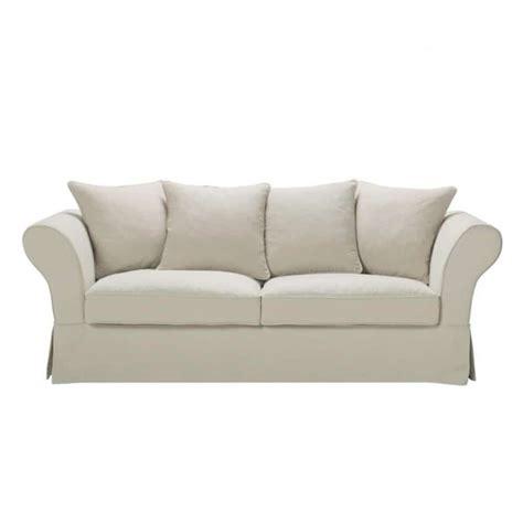 divani in lino divano ecru in lino 3 4 posti roma maisons du monde