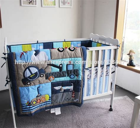 boy crib bedding sets aliexpress com buy ups free new baby 4 pcs set dog car boy baby cot crib bedding set
