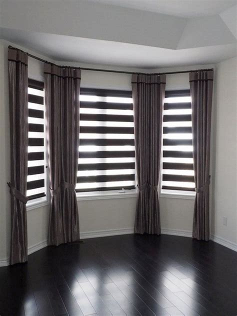 bay window curtains ideas bay window blinds ideas how to dress up your bay window