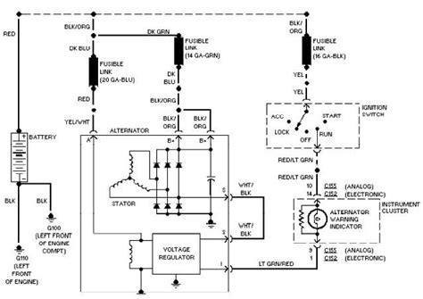 2002 ford taurus charging system wiring diagram 2002