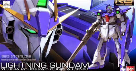 Bandai Gundam Real Grade Kits 1144 Rg Zeta Gundam Diskon fanart rg 1 144 lightning gundam gundam kits collection