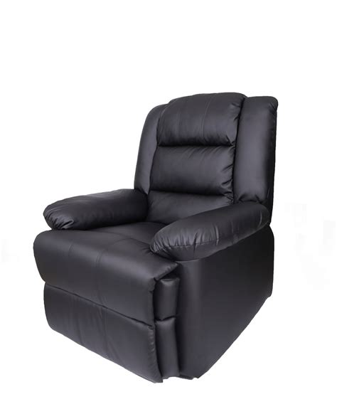 recliner armchairs uk leather recliner armchair black fc mr 001 bl 163 149 95