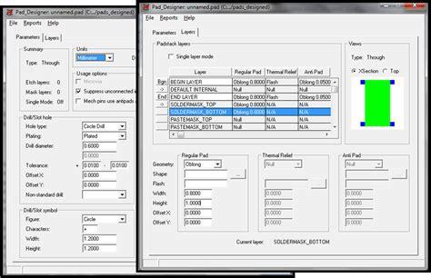 designer pad designing component footprints using pcb editor