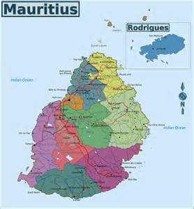Mauritius On World Map by Full Political Map Of Mauritius Mauritius Full Political