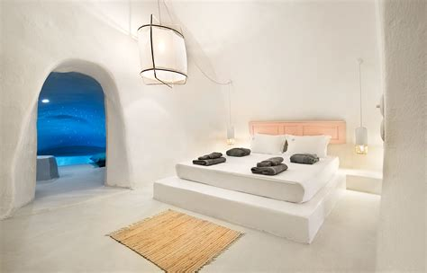 Dining Room Contemporary Santorinian Harmony At Sophia Luxury Suites 171 Luxury