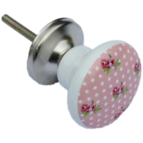 Pink Knobs by Pink Ceramic Shabby Vintage Chic Design