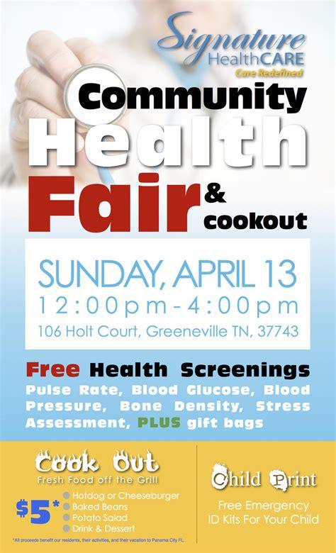 health fair flyer template health fair flyer template