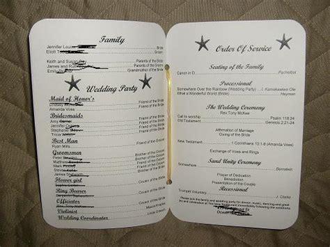 diy programs for weddings my diy wedding programs weddingbee photo gallery