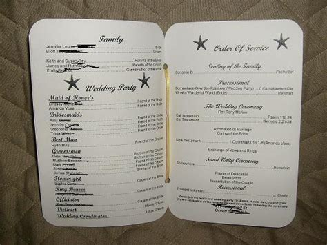 My DIY Beach Wedding Programs! :)   Weddingbee Photo Gallery