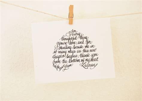 wedding thank you poems calligraphy wedding thank you cards