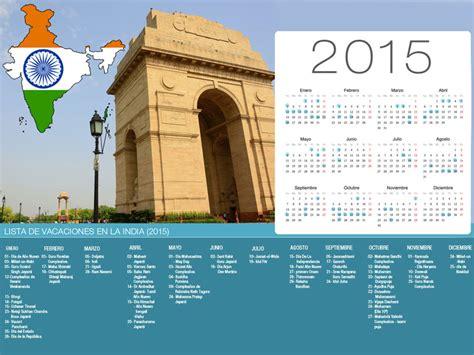 Calendario De La India Calendario De La India De Vacaciones 2015