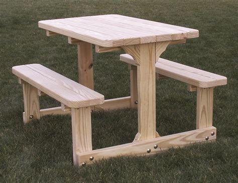 amish child s picnic table cedar or pine wood
