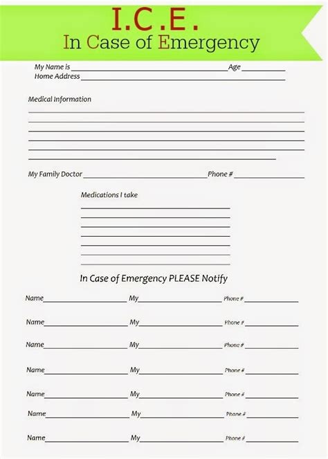glenda s world ice in case of emergency forms