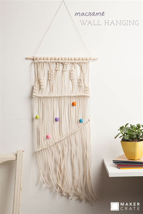 Wall Hanging Tutorial - macrame wall hanging maker crate