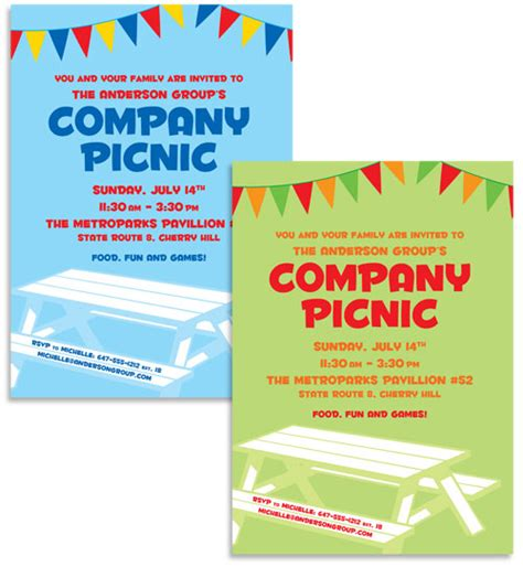 and co invitation template picnic theme invitation