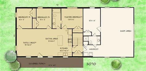 house barn combo floor plans barndominium house plans barndominium plan 3 bedroom 1 5 bath perfect guest house