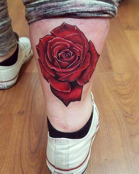 rose tattoo on calf calf erkek baldır kırmızı g 252 l d 246 vmesi