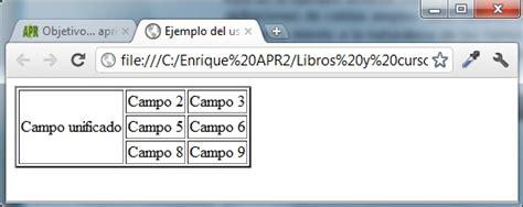 insertar imagenes tabla html crear tablas html colspan y rowspan unir celdas