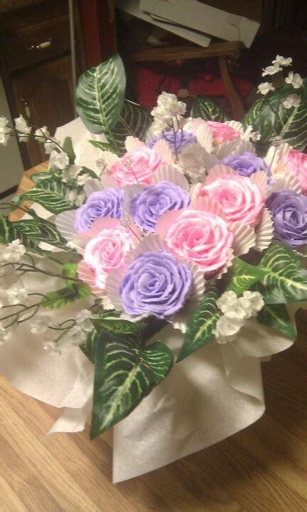 cupcake flower arrangements flower arrangement cupcakes cupcake flower pots pinterest