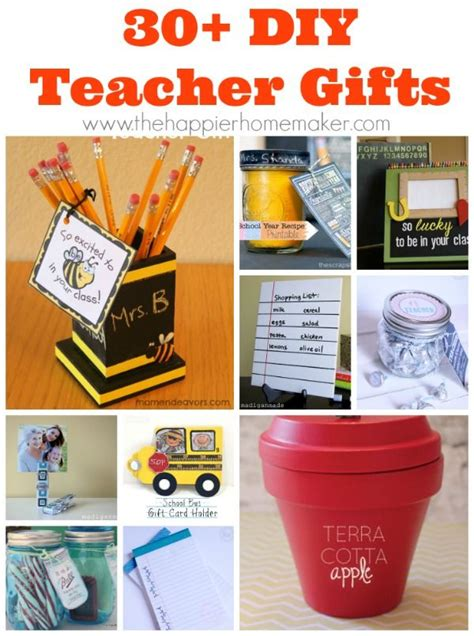 middle school christmas ideas for teachers 30 diy gifts great fo back to school end of year or appreciation day diy