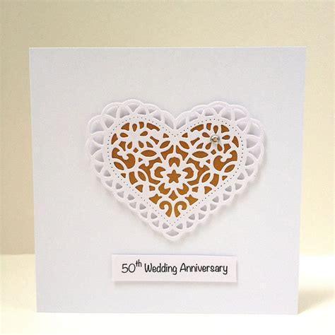 Lace Wedding Anniversary Ideas by 17 Best Ideas About Wedding Anniversary Cards On