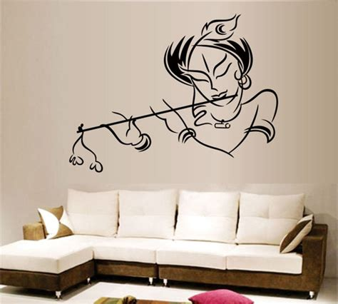 wall and stickers wall designs bedroom wall stickerskart wall stickers krishna modern multi colour