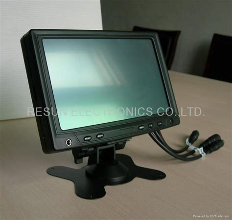 Lcd Touchscreen 7 inch desktop headrest vga av touch screen tft lcd monitor for pc fanless panel pc rearview