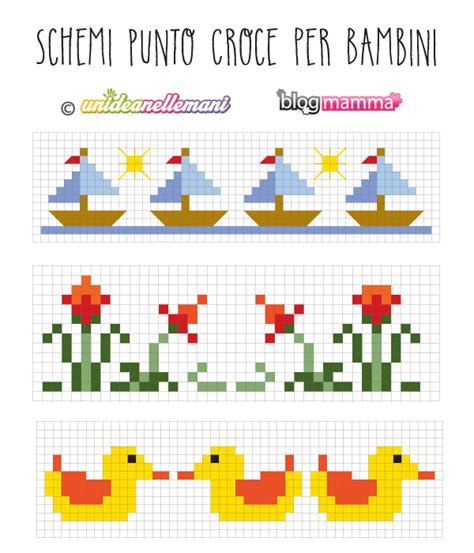 disegni a punto croce per cucina schemi punto croce bordure per bambini blogmamma it