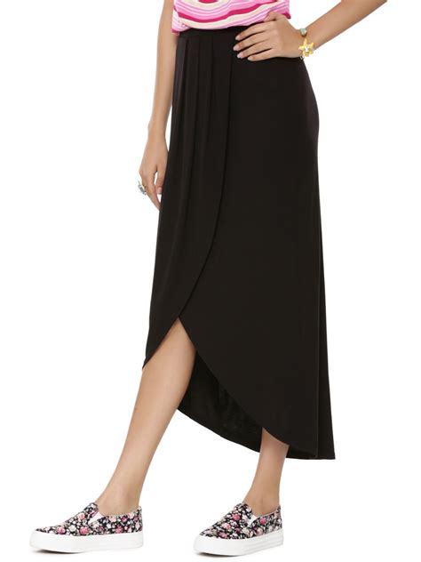 buy new look jersey wrap maxi skirt for s