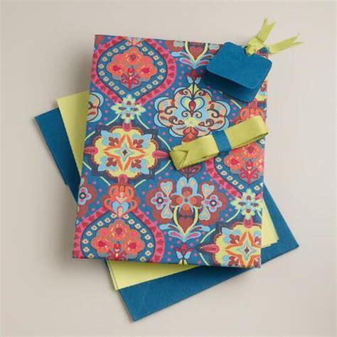 Handmade Fabric Gifts - moroccan tiles handmade fabric gift box kit world market